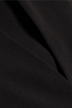HALSTON HERITAGE Asymmetric layered crepe dress