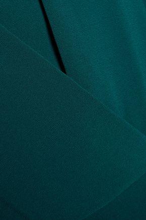 HALSTON HERITAGE Pleated crepe mini dress