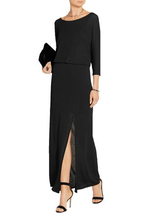 SPLENDID Draped stretch-jersey maxi dress