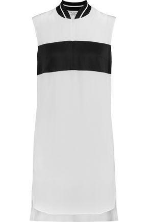 RAG & BONE Nico silk crepe de chine and satin mini dress