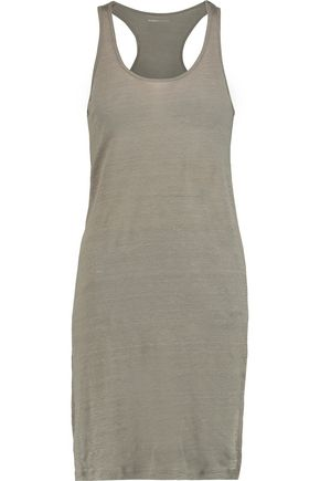 MAJESTIC Linen-jersey mini dress
