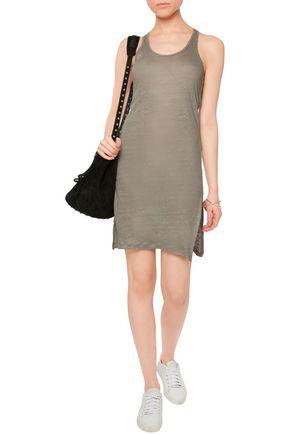 MAJESTIC Linen-jersey mini dress