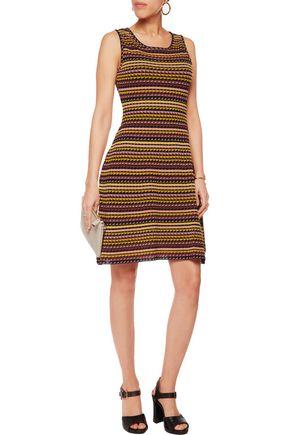 M MISSONI Crochet-knit cotton-blend dress