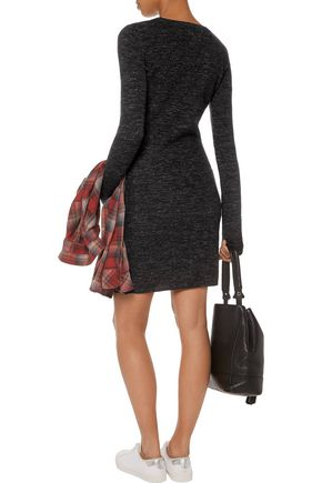 CURRENT/ELLIOTT The Melange wool and linen-blend sweater dress