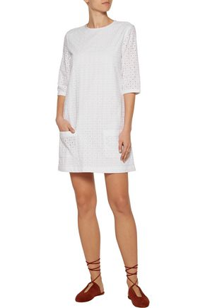 EQUIPMENT Aubrey broderie anglaise cotton mini dress