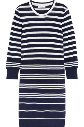 EQUIPMENT Marta striped silk and cashmere-blend sweater dress