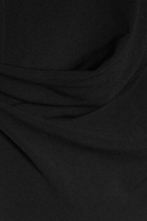 BY MALENE BIRGER Turtleneck textured stretch-crepe maxi dress