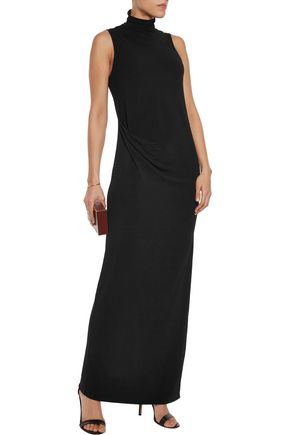 BY MALENE BIRGER Turtleneck textured stretch-crepe maxi dress