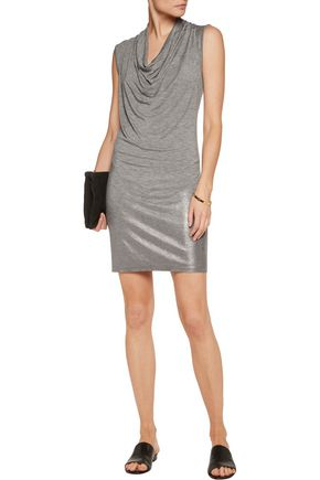 SPLENDID Draped slub stretch-modal mini dress