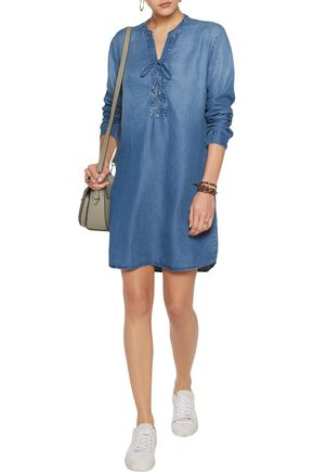 SPLENDID Adelise lace-up chambray mini dress