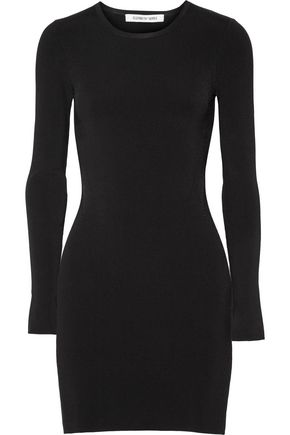 ELIZABETH AND JAMES Priscilla cutout ribbed stretch-knit mini dress