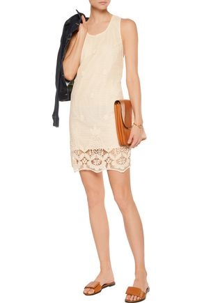 MAJE Crocheted cotton mini dress