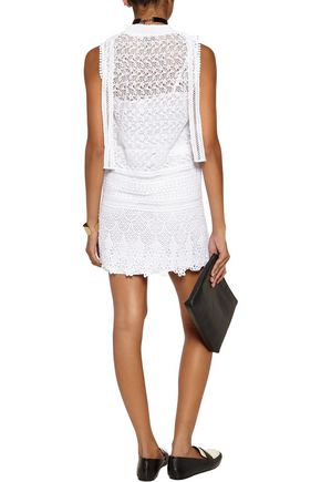 GOEN.J Crocheted cotton mini dress