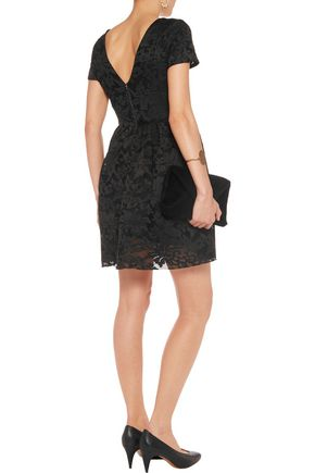 MAJE Embroided tulle mini dress