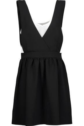SANDRO Riley layered crepe mini dress