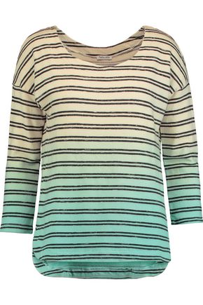 SPLENDID Ombré cotton-blend top