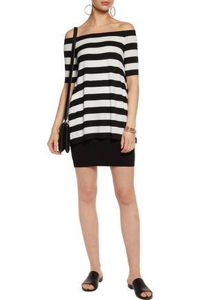 BAILEY 44 Off-the-shoulder striped stretch-jersey mini dress
