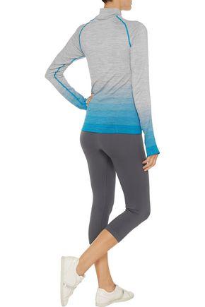YUMMIE by HEATHER THOMSON® Lindsay printed marled stretch-jersey jacket