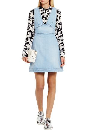 STELLA McCARTNEY Anne stretch-denim mini dress