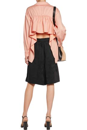 STELLA McCARTNEY Wool-blend jacquard shorts
