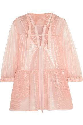 REDValentino Coated point d'esprit hooded jacket