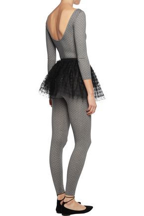 REDValentino Cotton-blend jersey and Swiss-dot tulle top, leggings and tutu set
