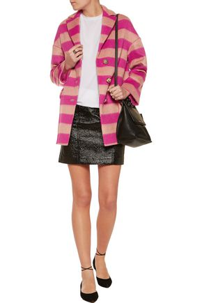 REDValentino Striped brushed wool-blend jacket
