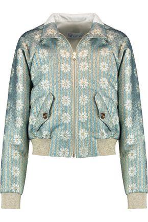 REDValentino Metallic brocade bomber jacket