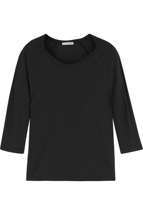 JAMES PERSE Slub cotton and linen-blend top