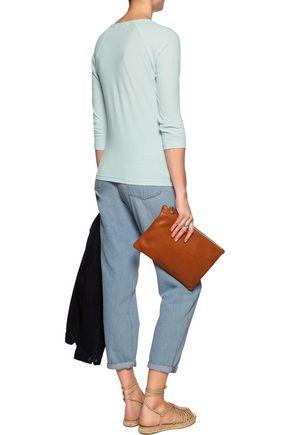 JAMES PERSE Slub cotton and linen-blend top
