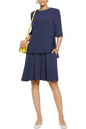 STELLA McCARTNEY Winnie layered macramé lace-trimmed crepe dress