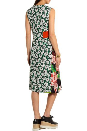 STELLA McCARTNEY Agnes floral-print stretch-crepe wrap-effect dress
