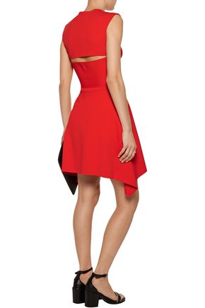 STELLA McCARTNEY Asymmetric cutout cady mini dress