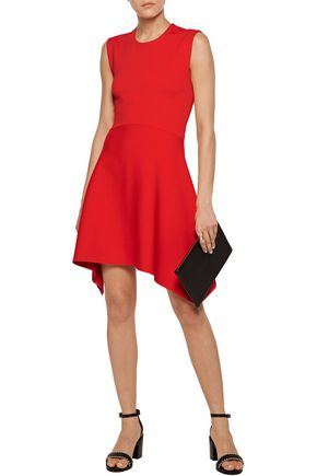 STELLA McCARTNEY Cutout asymmetric cady mini dress