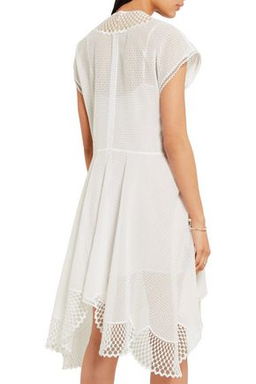 STELLA McCARTNEY Clotilde broderie anglaise cotton-blend and tulle dress