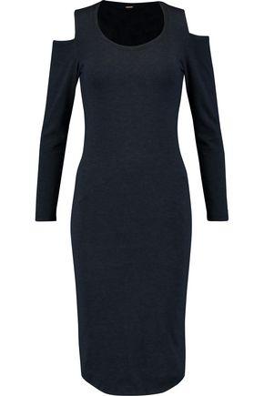 MONROW Cold-shoulder stretch-jersey dress