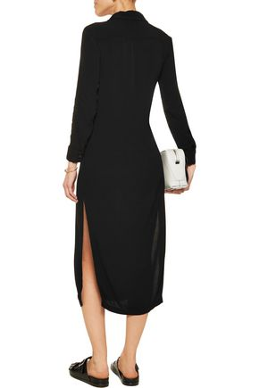 MONROW Crepe midi dress