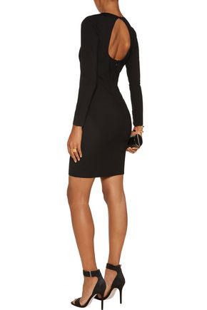 HALSTON HERITAGE Cutout ponte mini dress