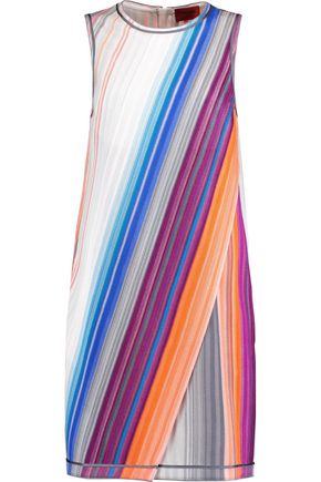 MISSONI Draped crochet-knit dress