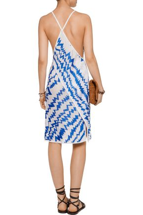 MISSONI Wrap-effect crochet-knit dress