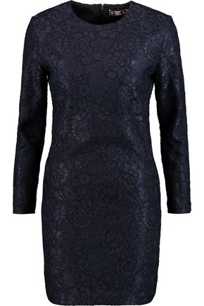 MSGM Corded lace mini dress