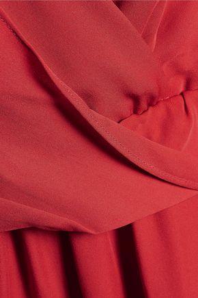 HAUTE HIPPIE Draped asymmetric silk dress