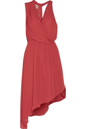HAUTE HIPPIE Draped asymmetric silk dress