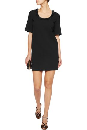 EMILIO PUCCI Embellished stretch-wool mini dress