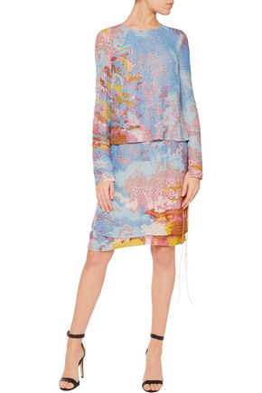 EMILIO PUCCI Layered beaded silk dress