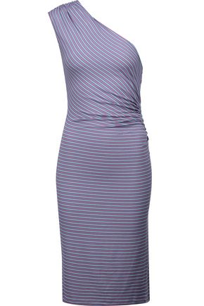 KAIN LABEL Leia one-shoulder striped stretch-knit dress