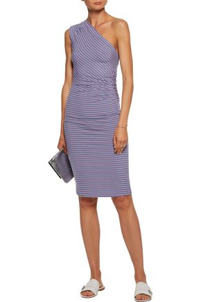 KAIN Leia one-shoulder striped stretch-knit dress