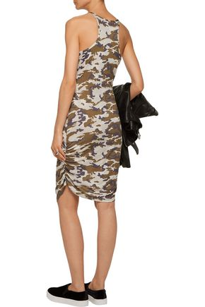 KAIN LABEL Rica ruched printed stretch-jersey dress