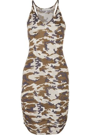 KAIN Rica ruched printed stretch-jersey dress