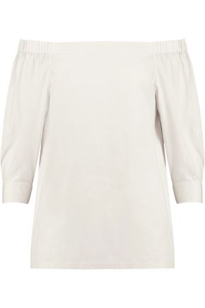THEORY Off-the-shoulder cotton top